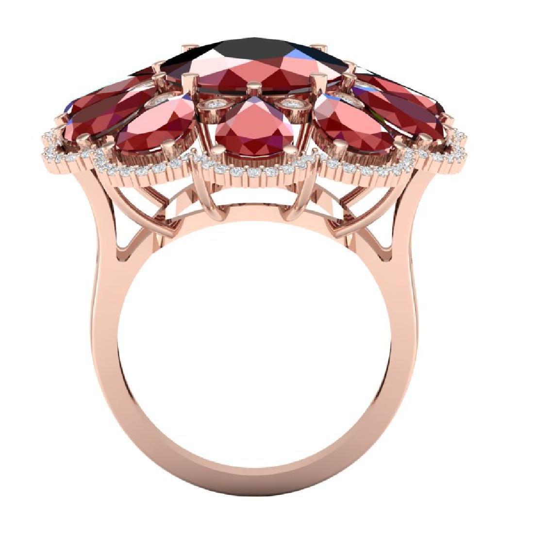 20.63 CTW Royalty Designer Ruby & VS Diamond Ring 18K - 3