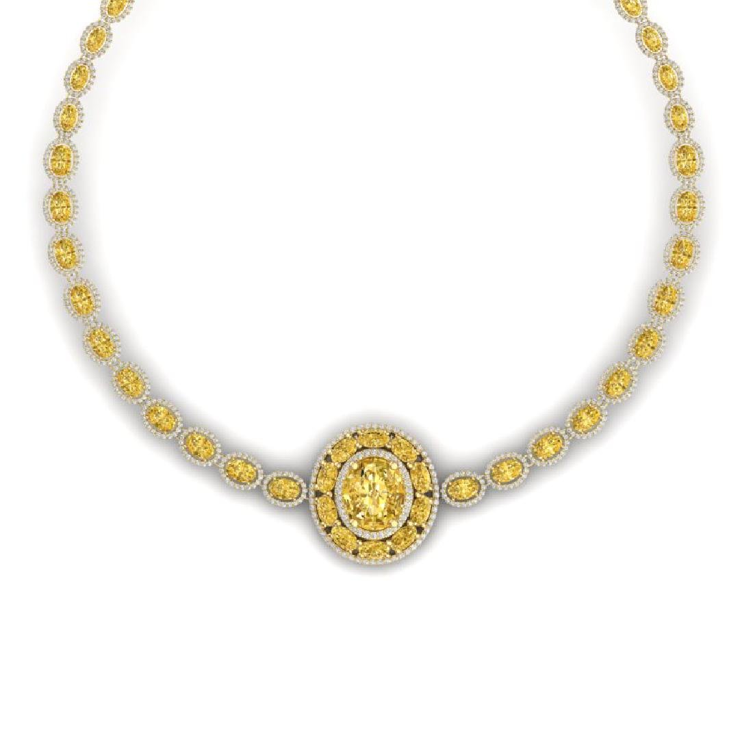 39.04 CTW Royalty Canary Citrine & VS Diamond Necklace