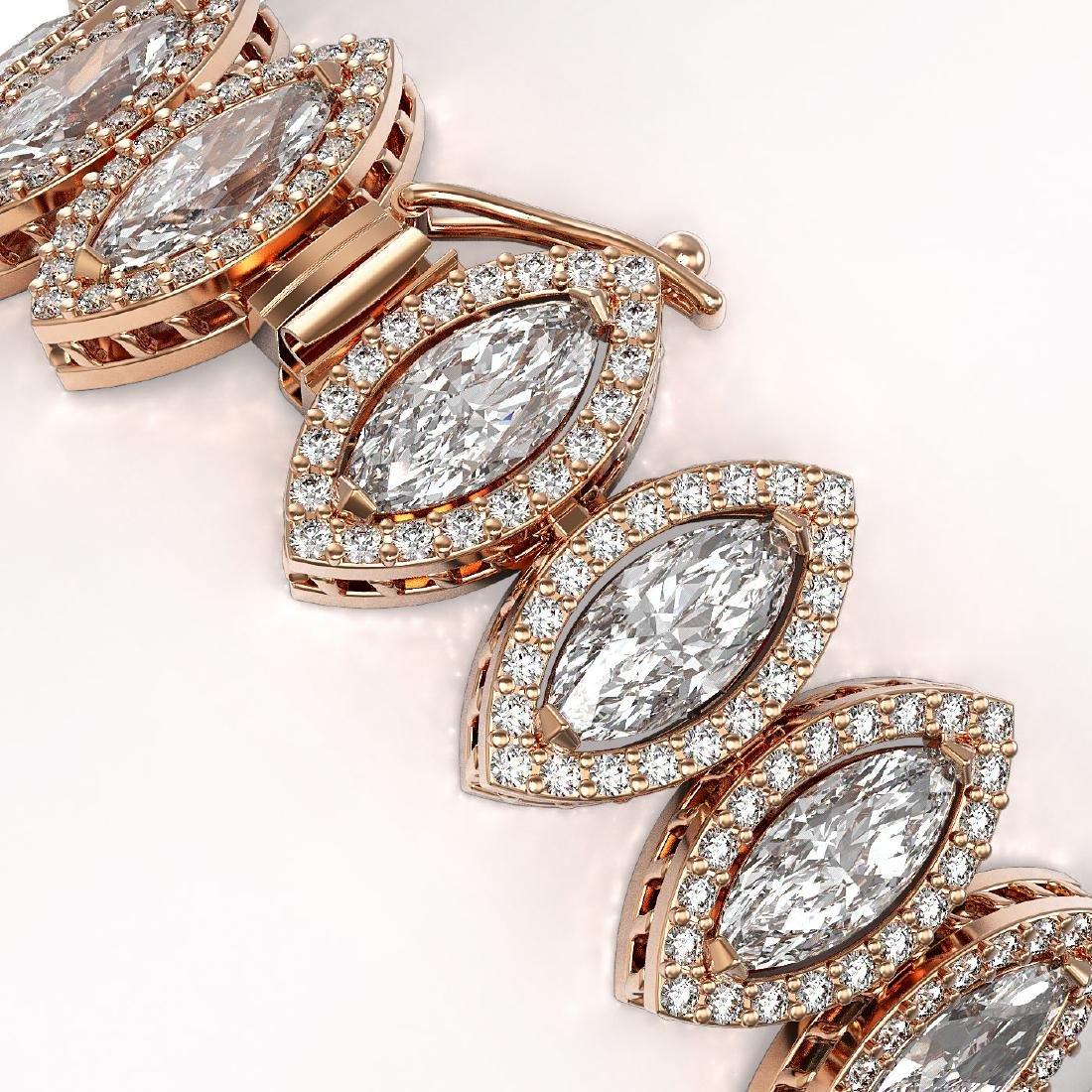 20.25 CTW Marquise Diamond Designer Bracelet 18K Rose - 3