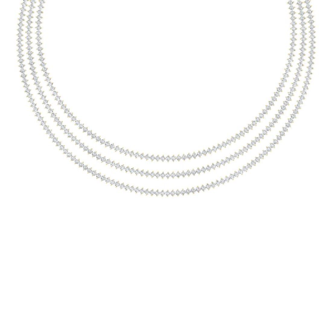 20 CTW Certified SI/I Diamond 2 Prong Necklace 18K