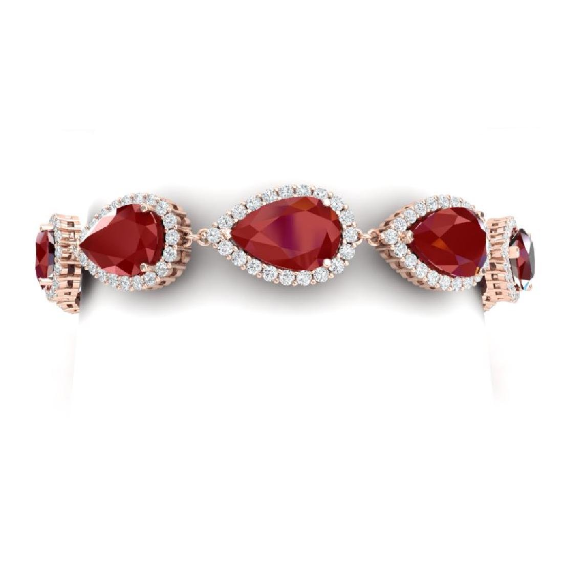 42 CTW Royalty Designer Ruby & VS Diamond Bracelet 18K