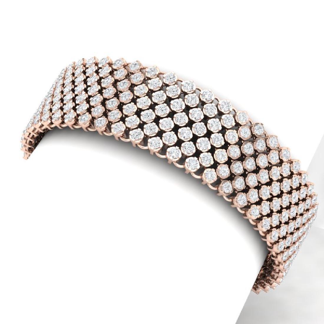 15 CTW Certified VS/SI Diamond Bracelet 15K 18K Rose