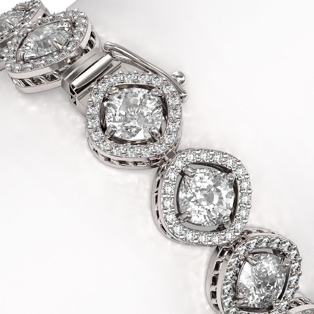 15.58 CTW Cushion Cut Diamond Designer Bracelet 18K - 3