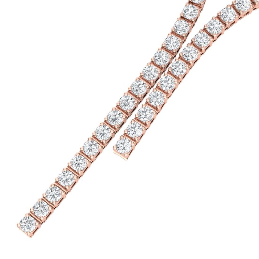 10 CTW Certified SI/I Diamond Necklace 18K Rose Gold