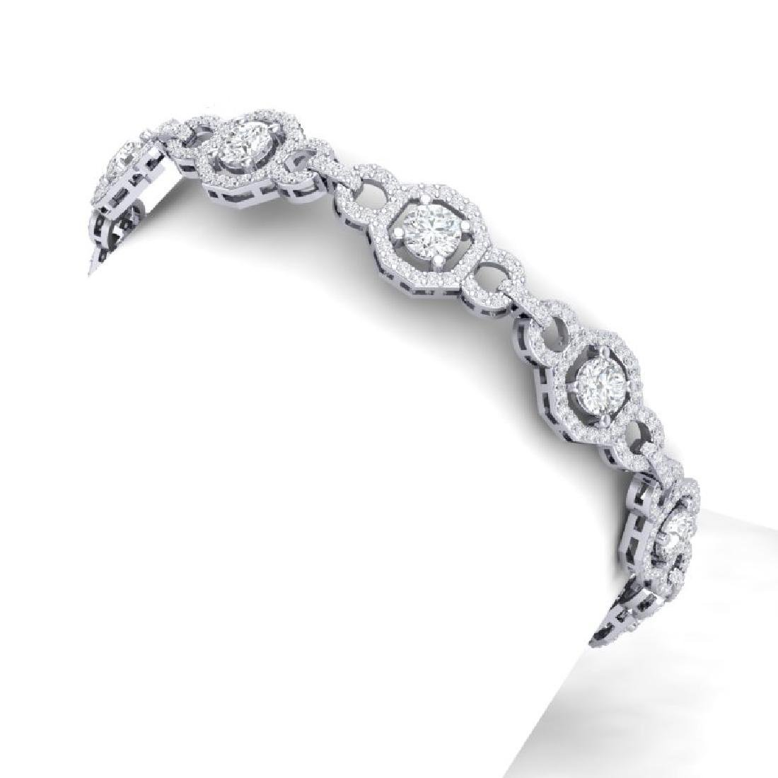 12 CTW Certified SI/I Diamond Halo Bracelet 18K White