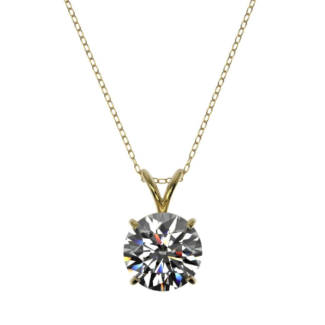 2 CTW Certified G-SI Diamond Bridal Necklace 10K Yellow - 3