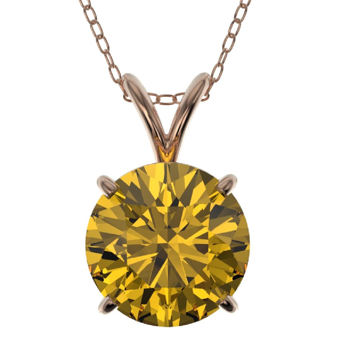 2.03 CTW Certified Intense Yellow SI Diamond Solitaire