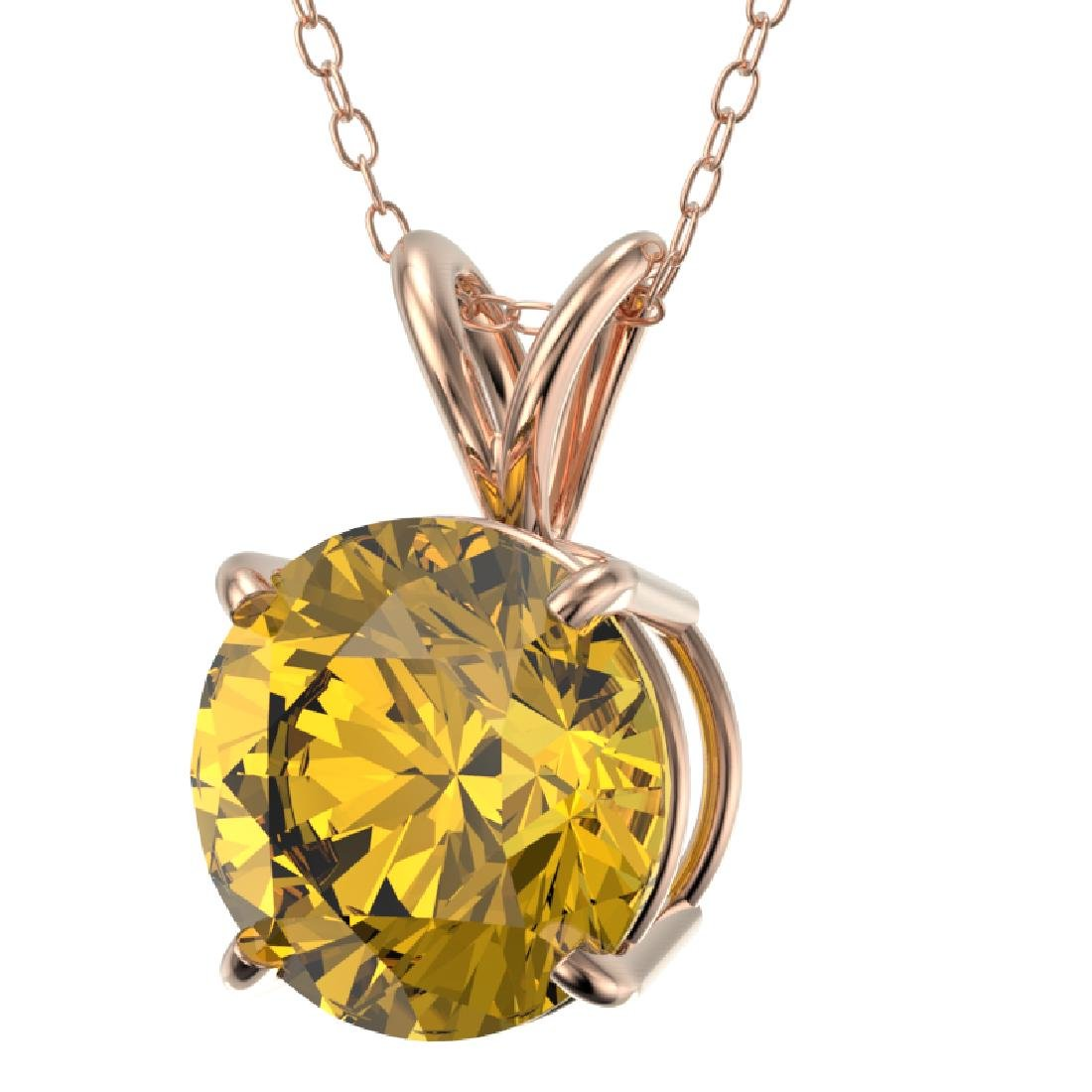 2.03 CTW Certified Intense Yellow SI Diamond Solitaire - 2