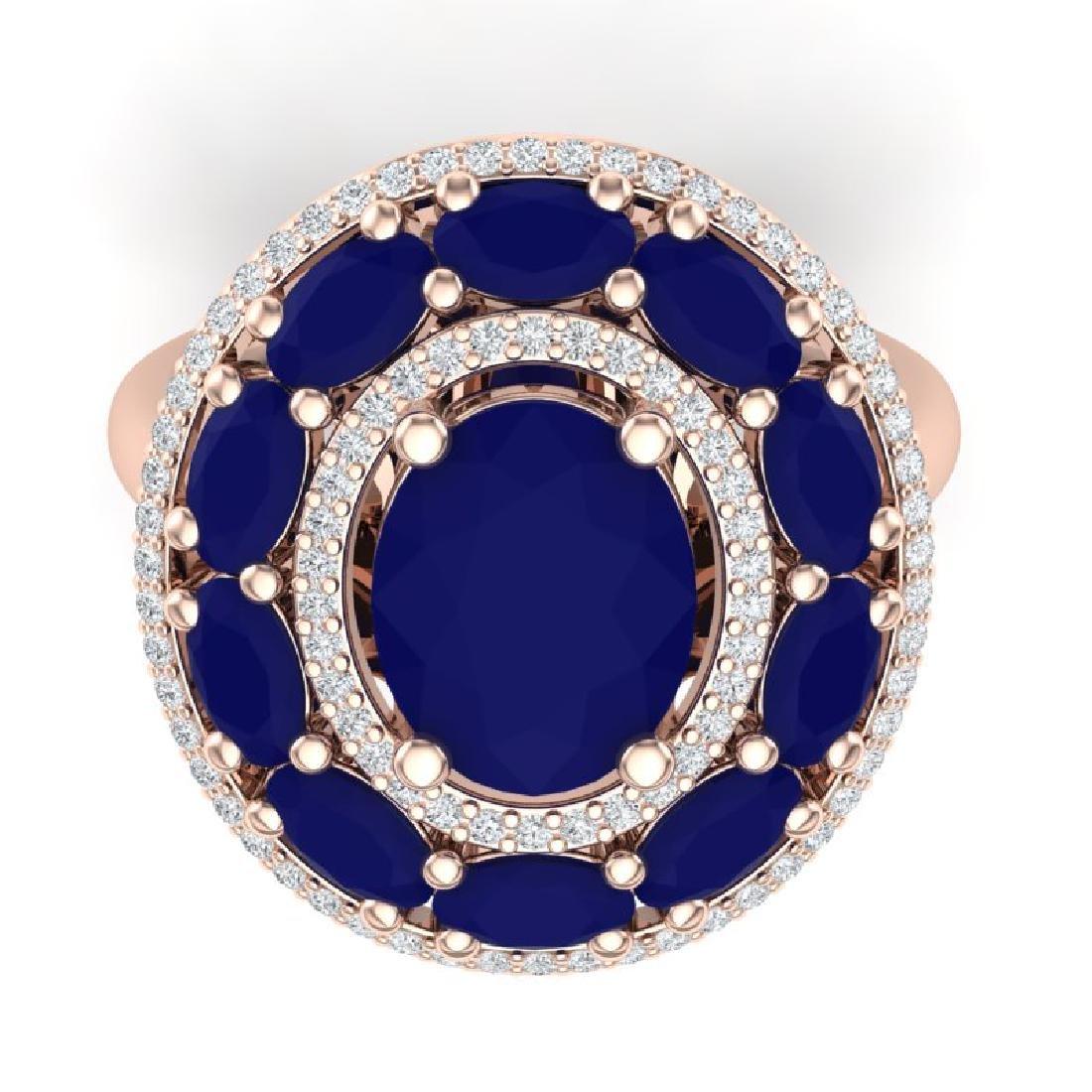 8.05 CTW Royalty Designer Sapphire & VS Diamond Ring - 2