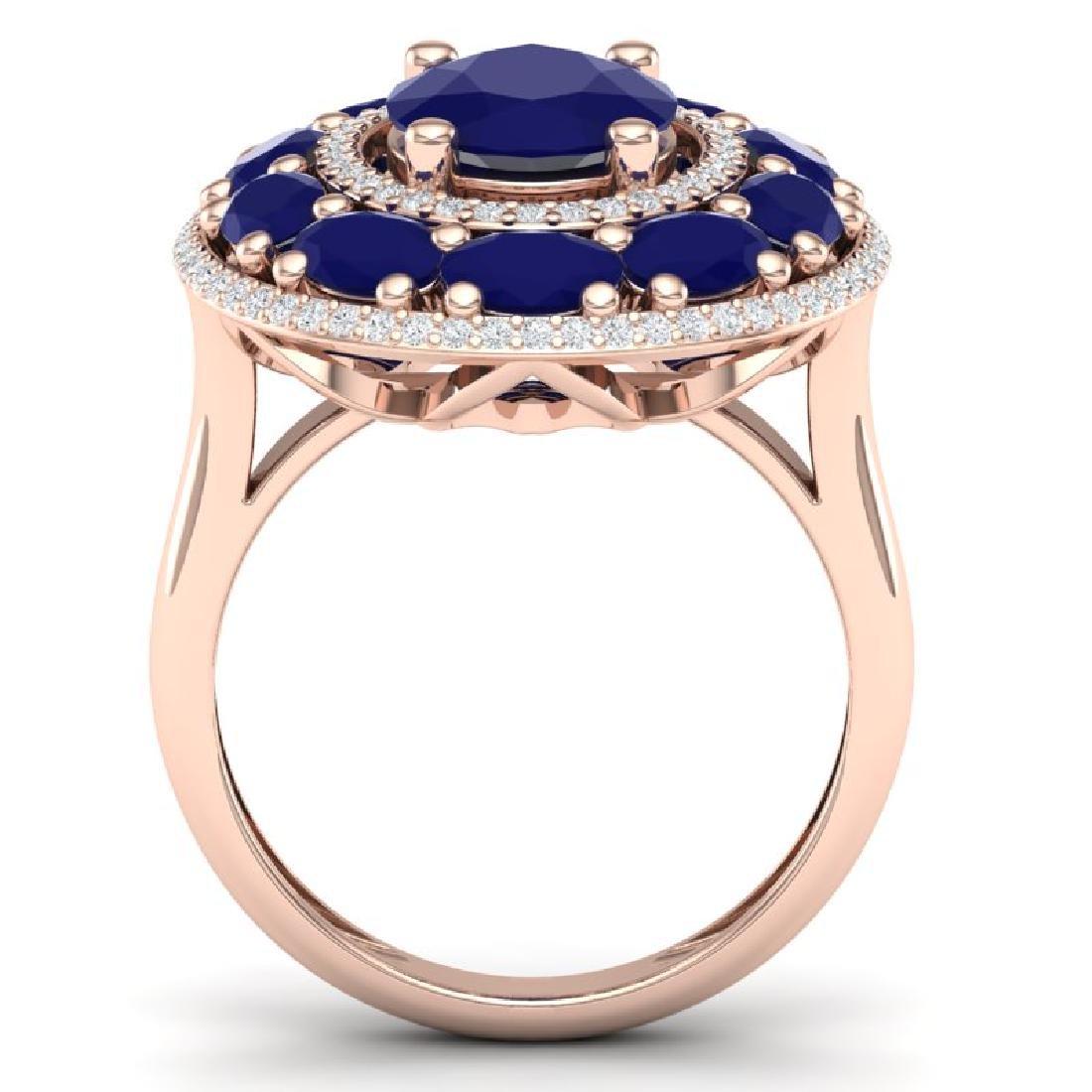 8.05 CTW Royalty Designer Sapphire & VS Diamond Ring - 3