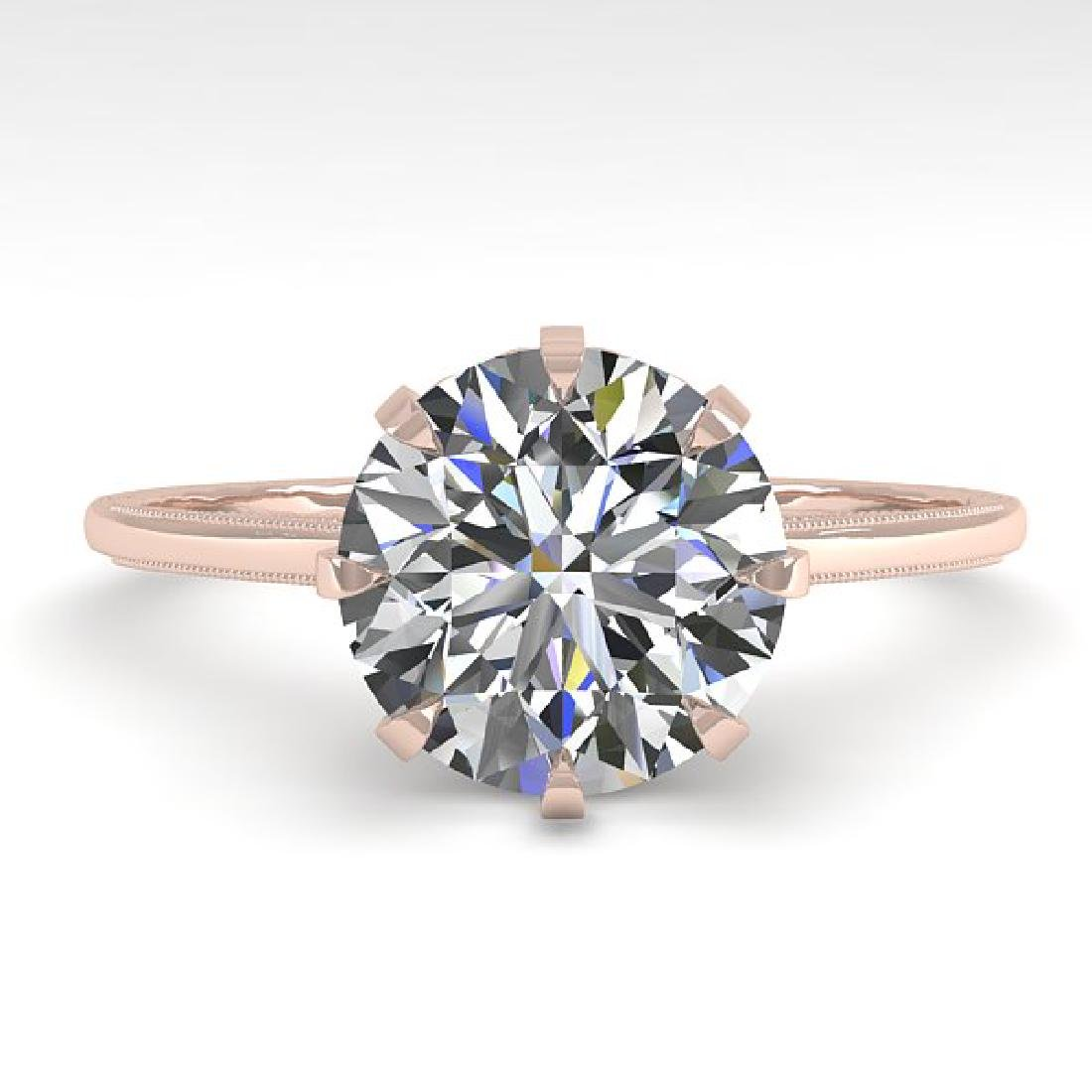 2 CTW VS/SI Diamond Solitaire Engagement Ring 18K Rose