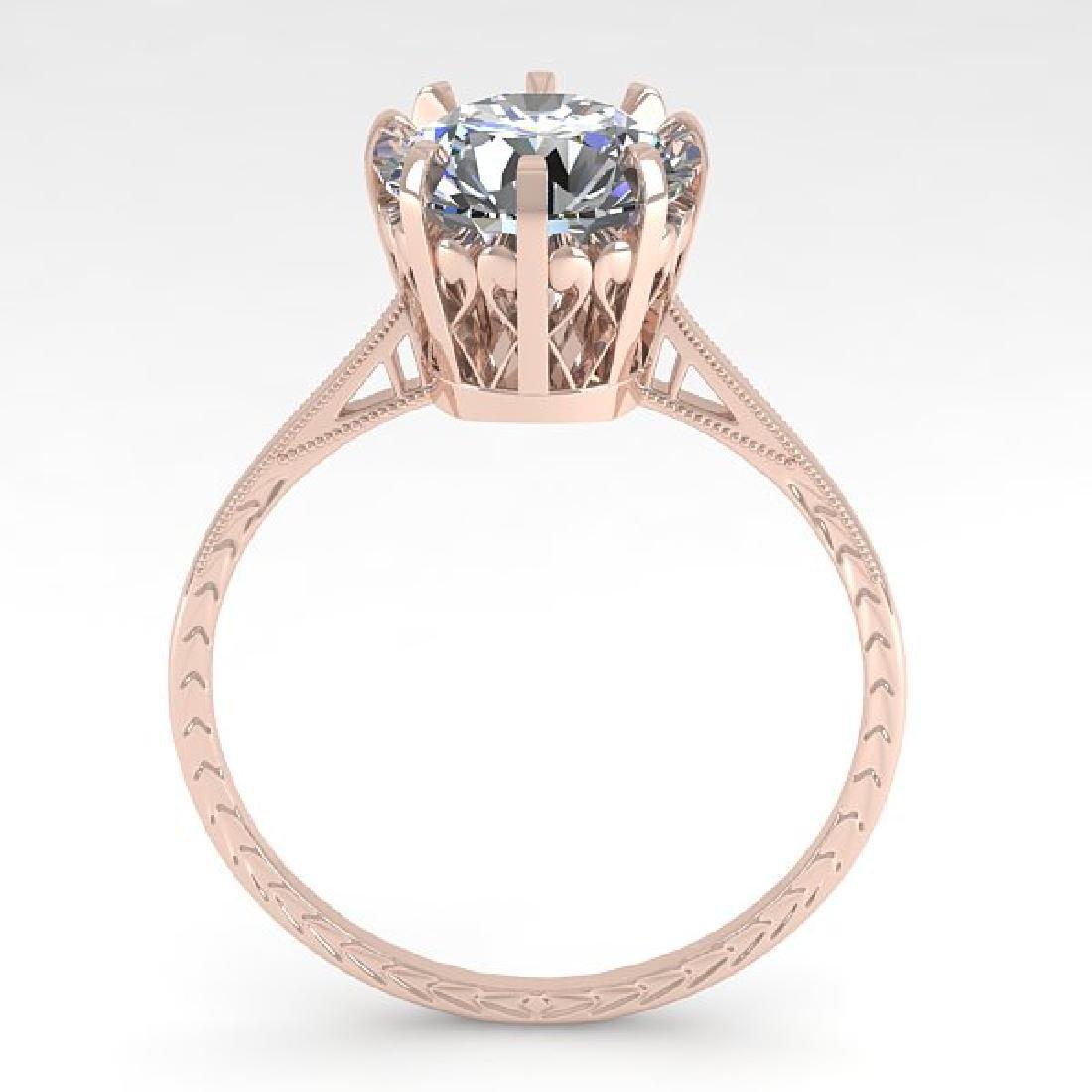 2 CTW VS/SI Diamond Solitaire Engagement Ring 18K Rose - 3