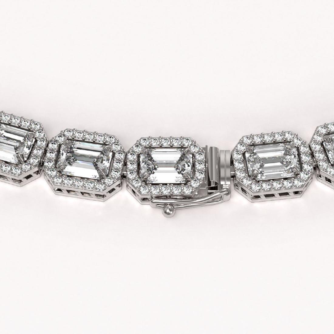 38.05 CTW Emerald Cut Diamond Designer Necklace 18K - 3