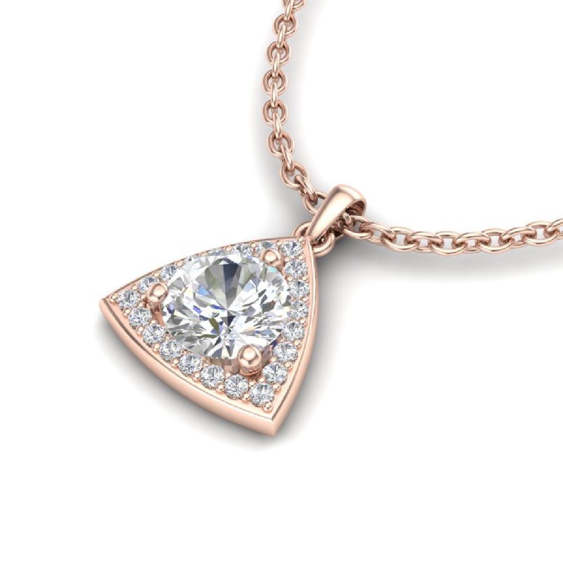 1.50 CTW VS/SI Diamond Necklace 14K Rose Gold - 2
