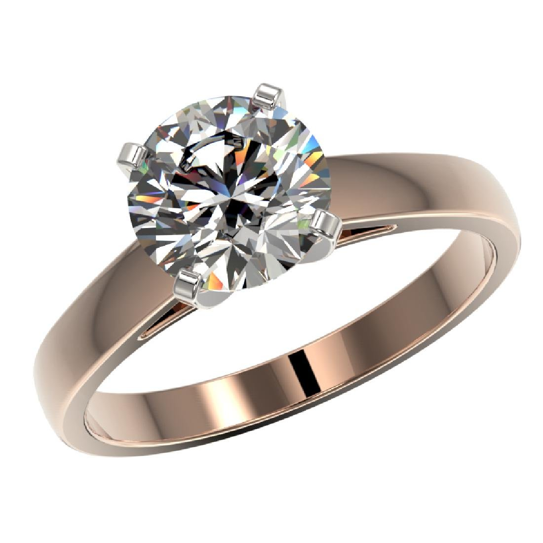 2.05 CTW Certified H-I Quality Diamond Engagement Ring - 2