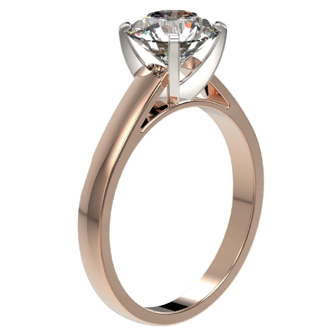 2.05 CTW Certified H-I Quality Diamond Engagement Ring - 3