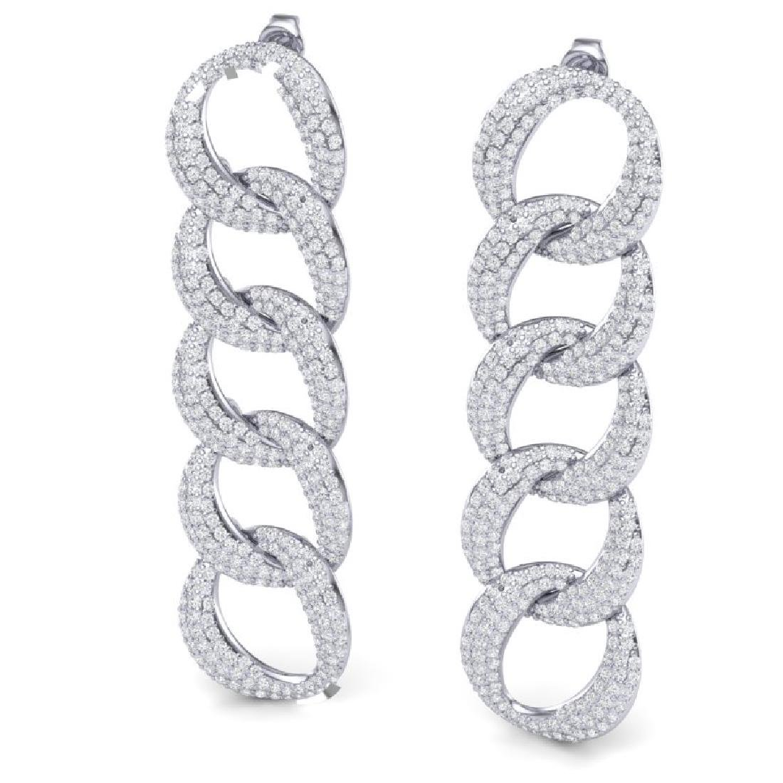 5 CTW Certified VS/SI Diamond Earrings 18K White Gold