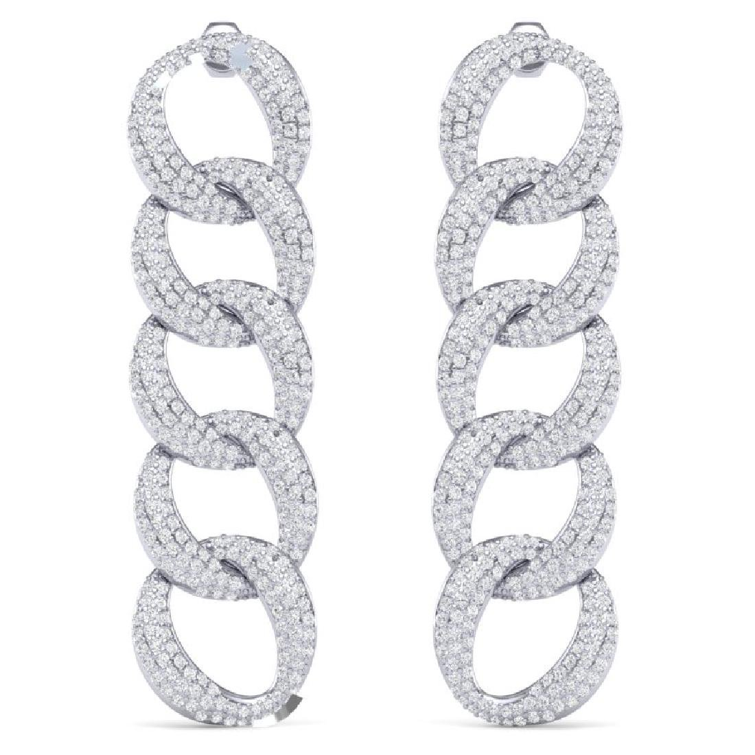 5 CTW Certified VS/SI Diamond Earrings 18K White Gold - 2