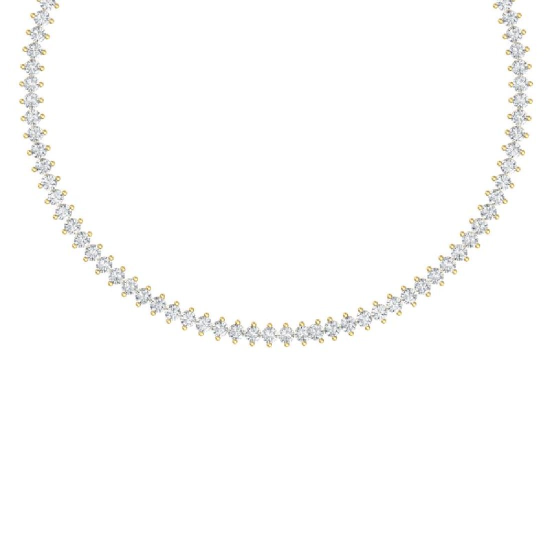 20 CTW Certified VS/SI Diamond Necklace 18K Yellow Gold