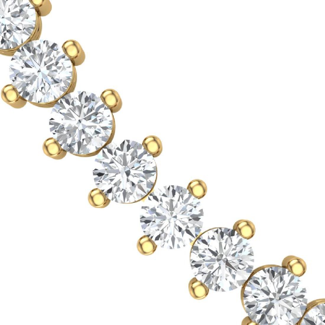 20 CTW Certified VS/SI Diamond Necklace 18K Yellow Gold - 2