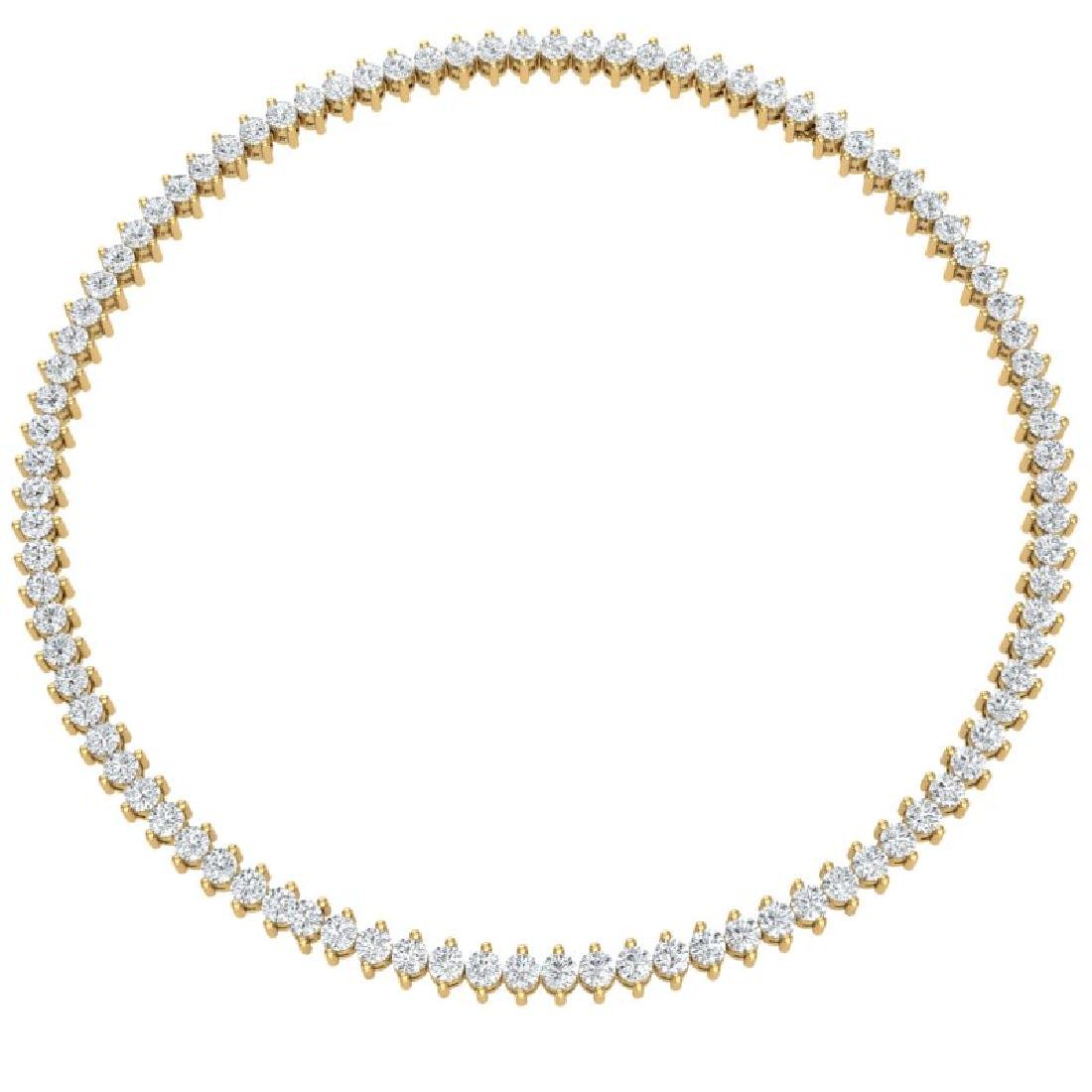 20 CTW Certified VS/SI Diamond Necklace 18K Yellow Gold - 3