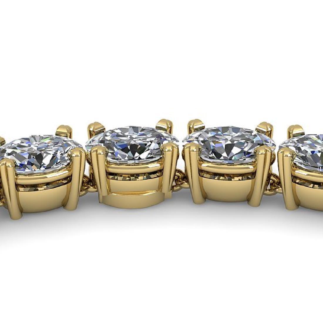 35 CTW Oval Cut Certified SI Diamond Necklace 14K