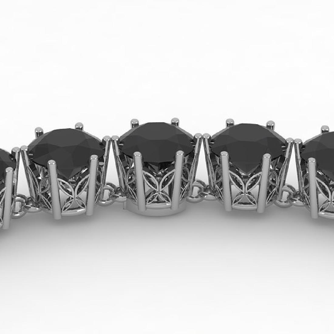 36 CTW Certified Black VS Diamond Necklace 14K White