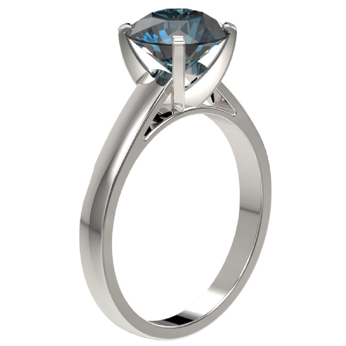 2.50 CTW Certified Fancy Blue SI Diamond Solitaire Ring - 3