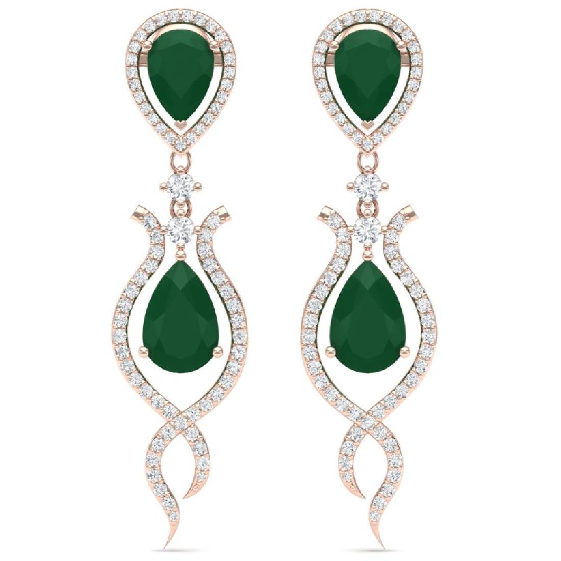 16.57 CTW Royalty Emerald & VS Diamond Earrings 18K