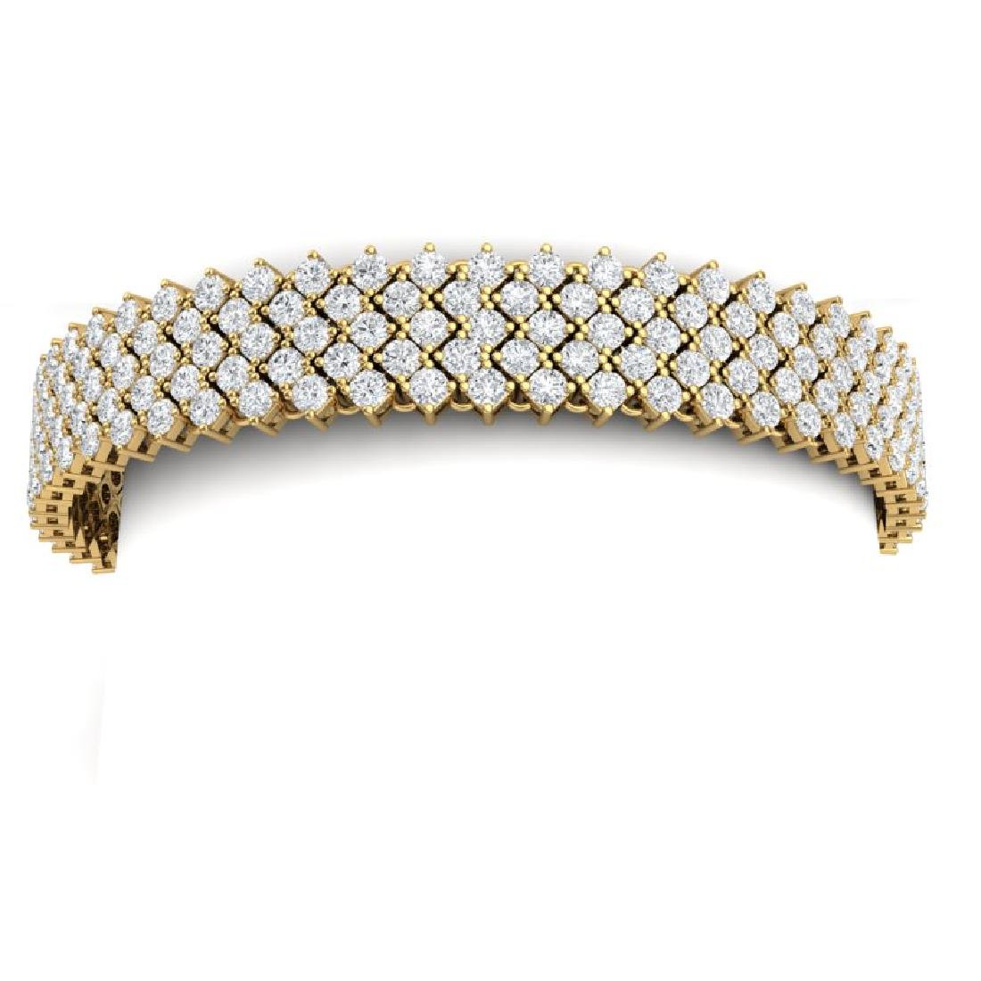 20 CTW Certified VS/SI Diamond Bracelet 18K Yellow Gold