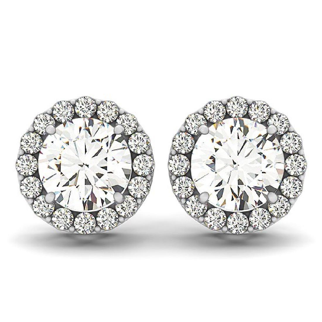 4.40 CTW Diamond Solitaire Earrings VS/SI Certified 14K - 2