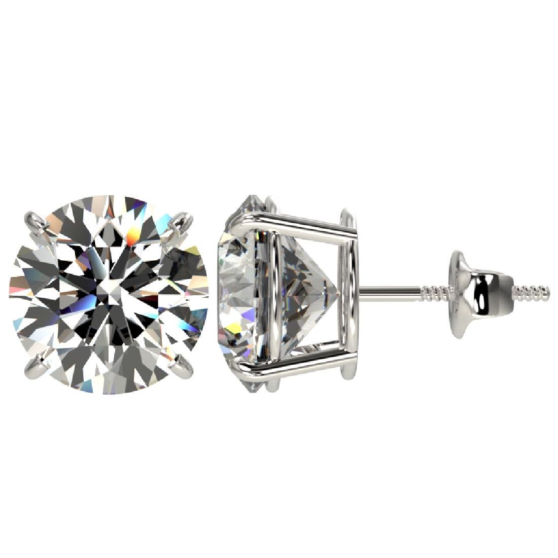 5 CTW Certified G-SI Diamond Solitaire Stud Earrings - 2