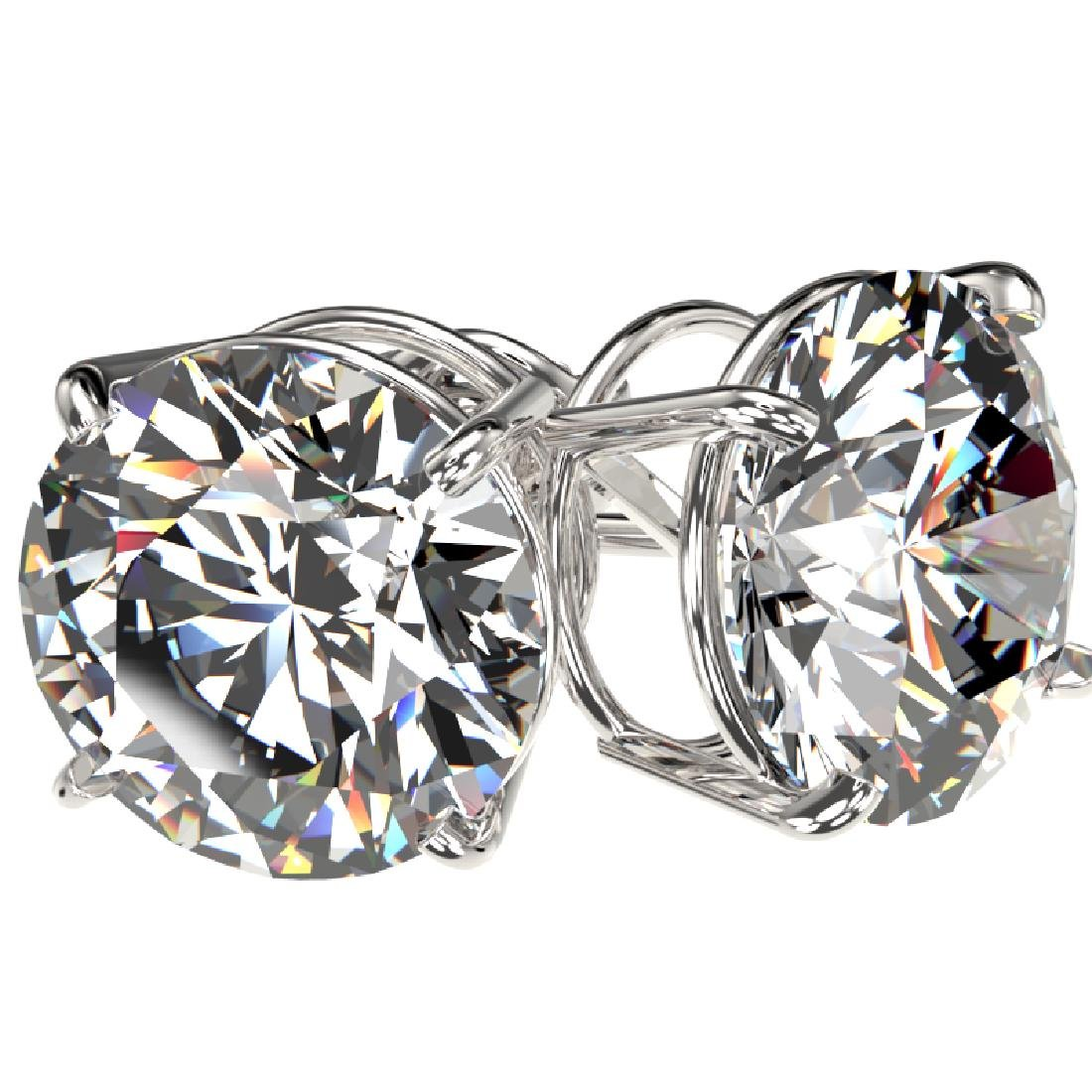 5 CTW Certified G-SI Diamond Solitaire Stud Earrings - 3