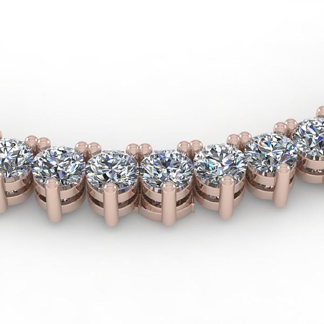25 CTW Solitaire VS/SI Diamond Necklace 14K Rose Gold