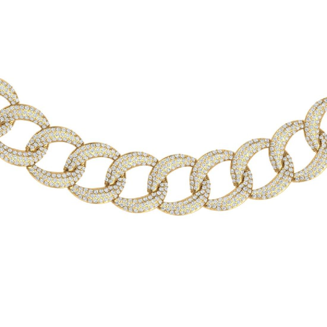 22 CTW Certified VS/SI Diamond Necklace 18K Yellow Gold