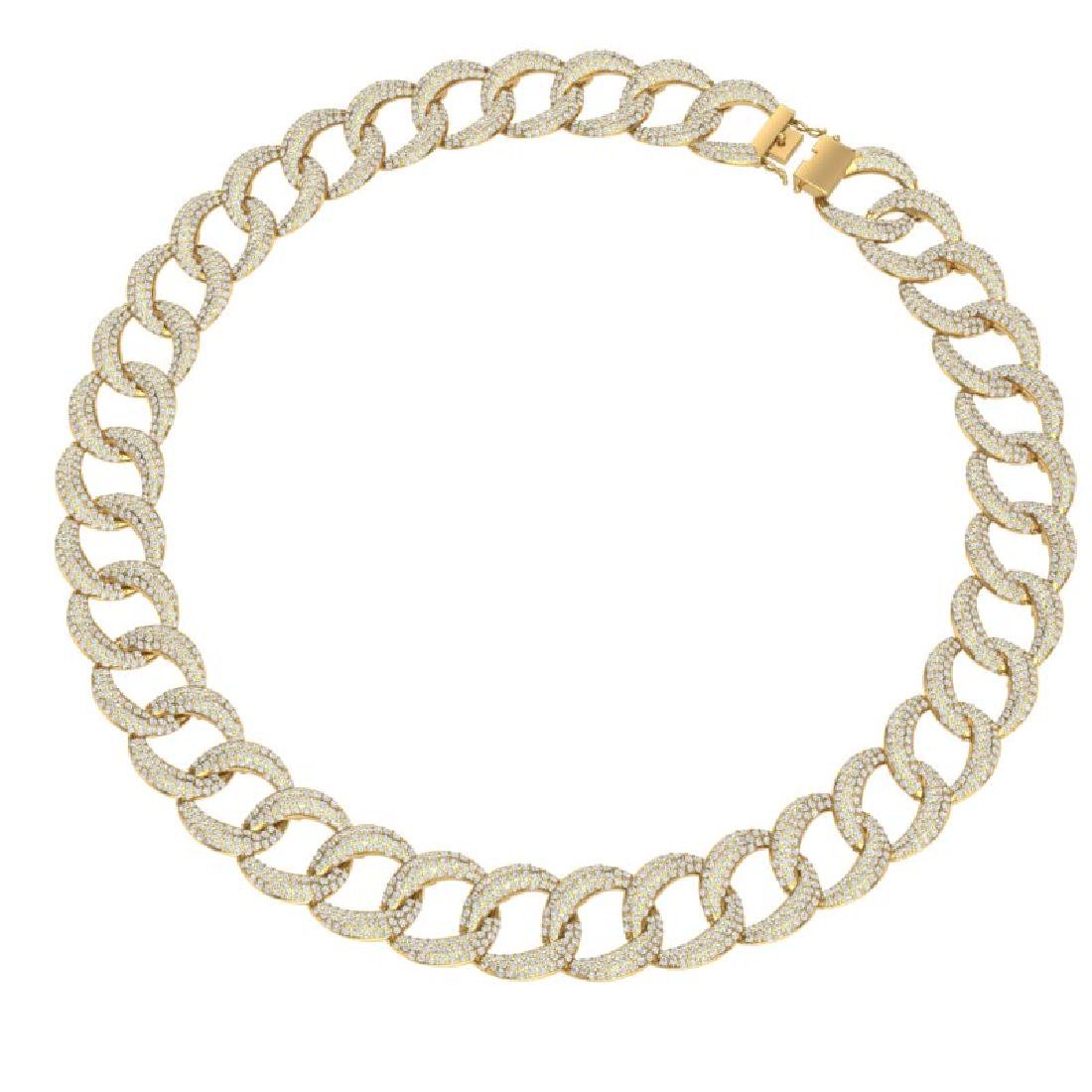 22 CTW Certified VS/SI Diamond Necklace 18K Yellow Gold - 2