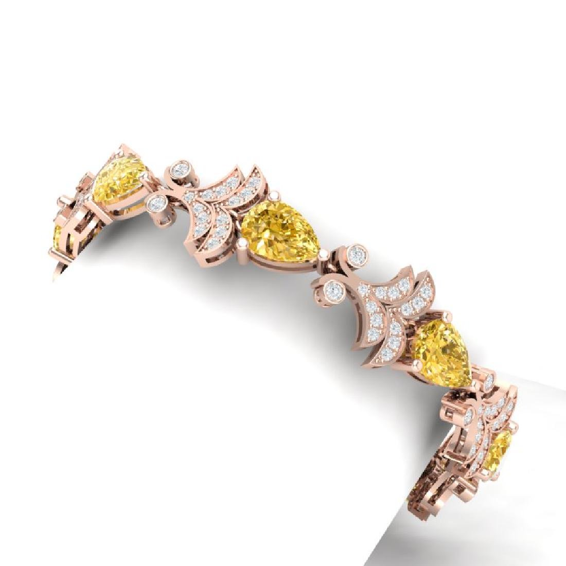 23.66 CTW Royalty Canary Citrine & VS Diamond Bracelet