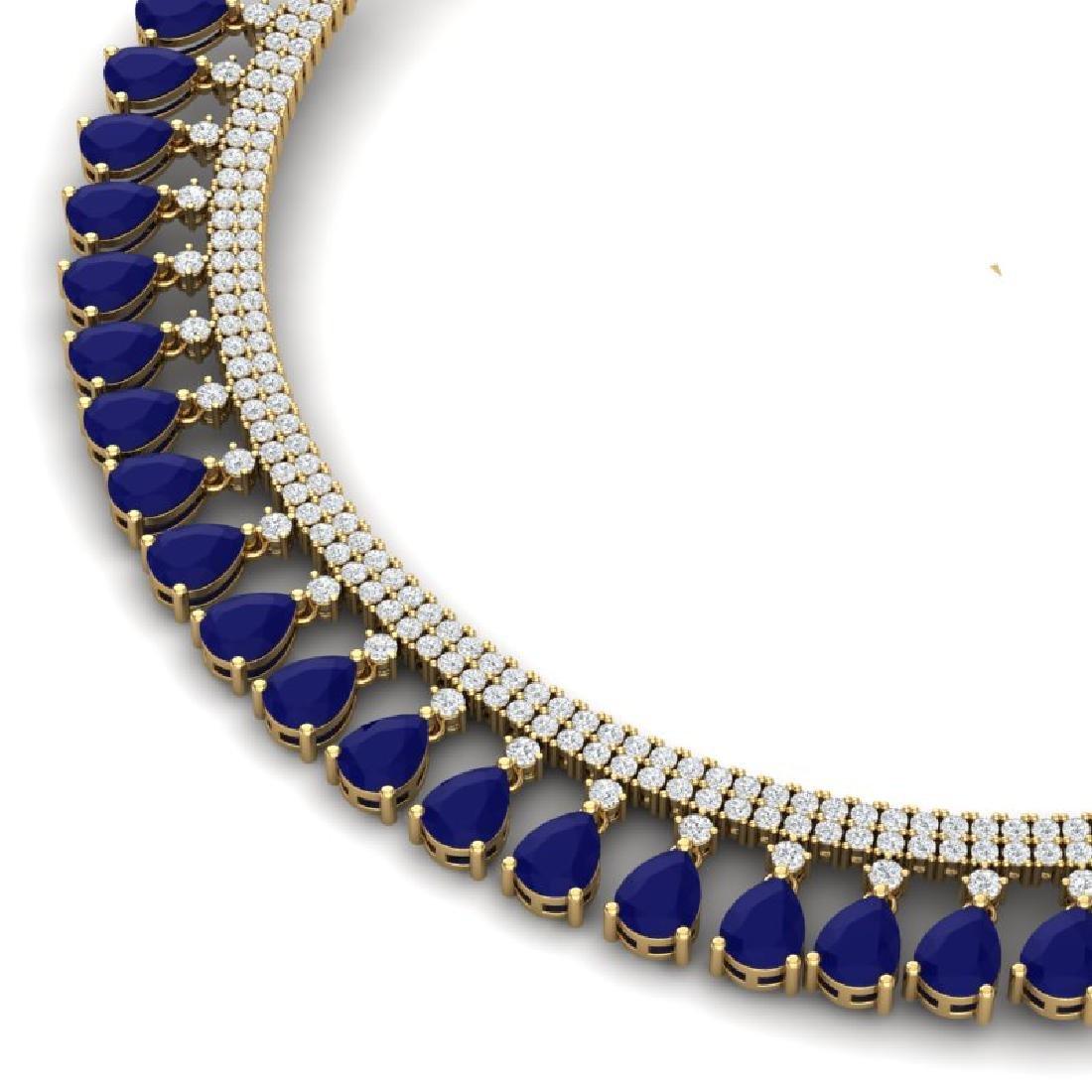 51.75 CTW Royalty Sapphire & VS Diamond Necklace 18K
