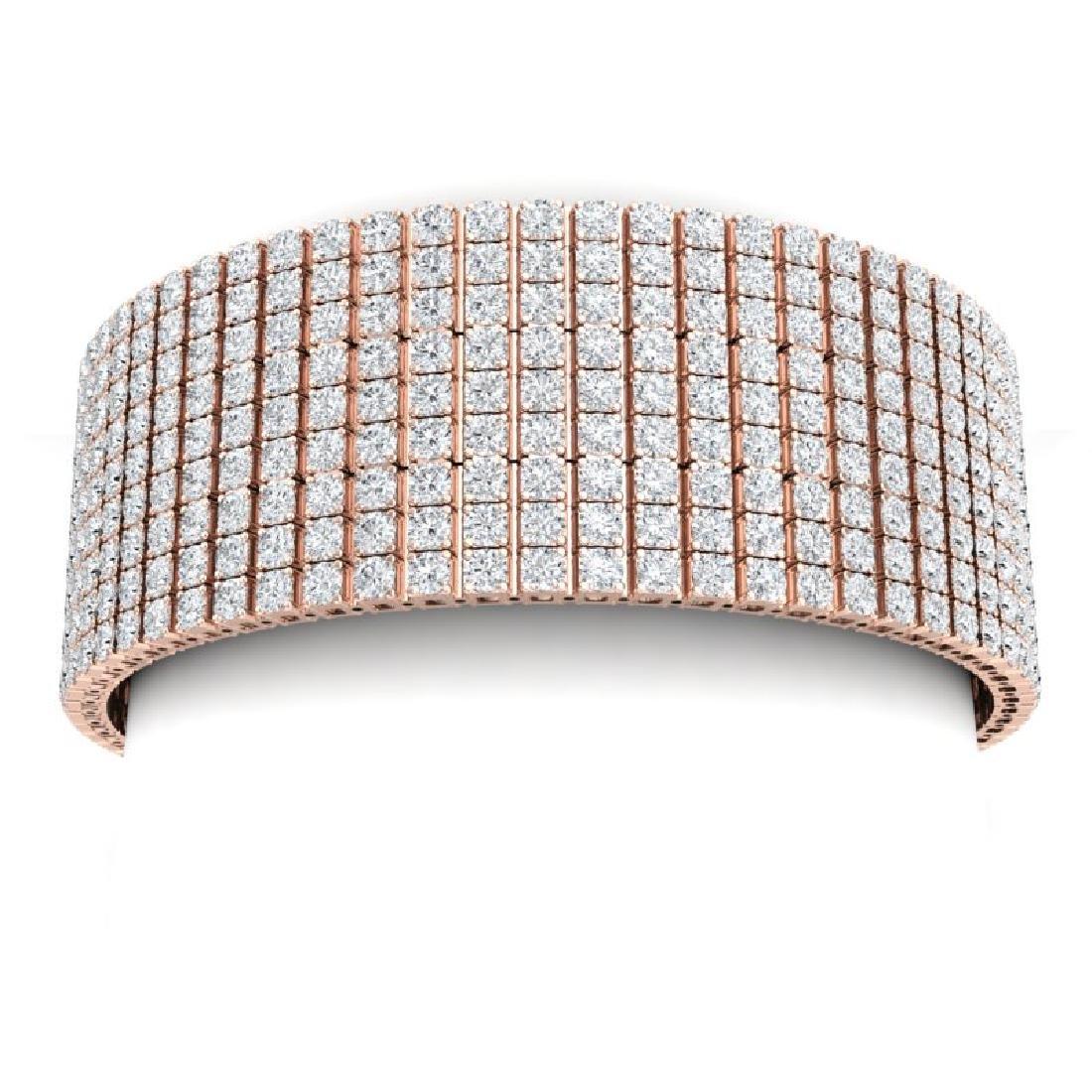 40 CTW Certified VS/SI Diamond Bracelet 18K Rose Gold - 2