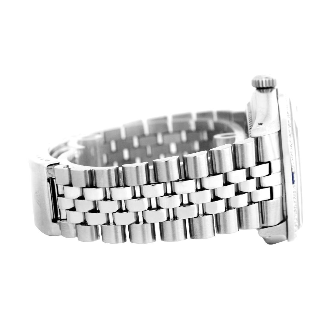 Rolex Men's Stainless Steel, QuickSet, Diam Dial with - 3