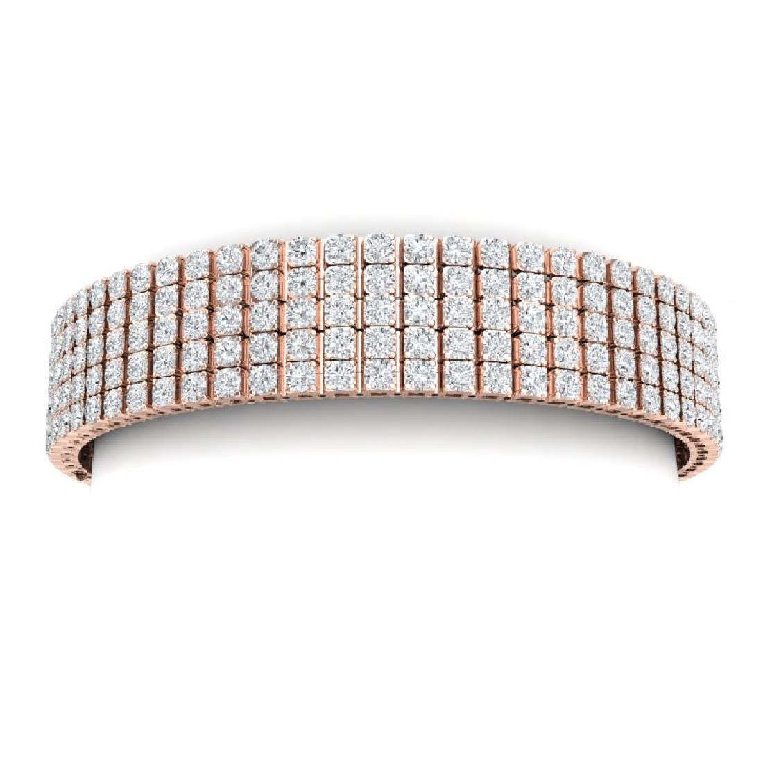 20 CTW Certified VS/SI Diamond Bracelet 18K Rose Gold - 2