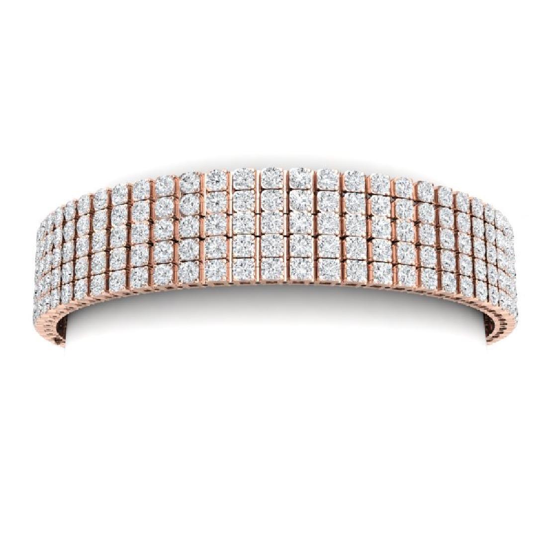 20 CTW Certified VS/SI Diamond Bracelet 18K Rose Gold - 2