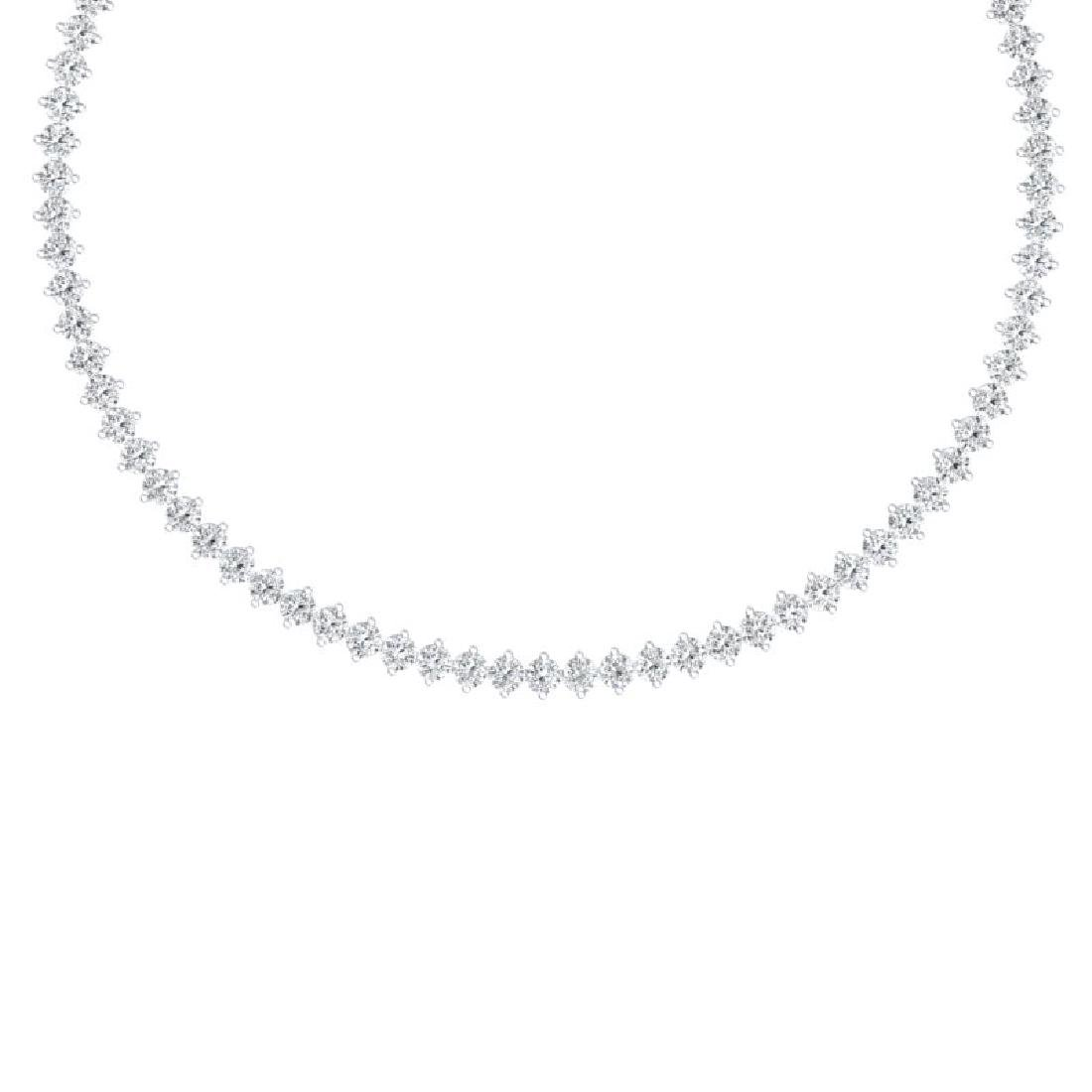 30 CTW Certified VS/SI Diamond Necklace 18K White Gold
