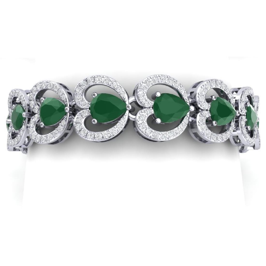 32.15 CTW Royalty Emerald & VS Diamond Bracelet 18K