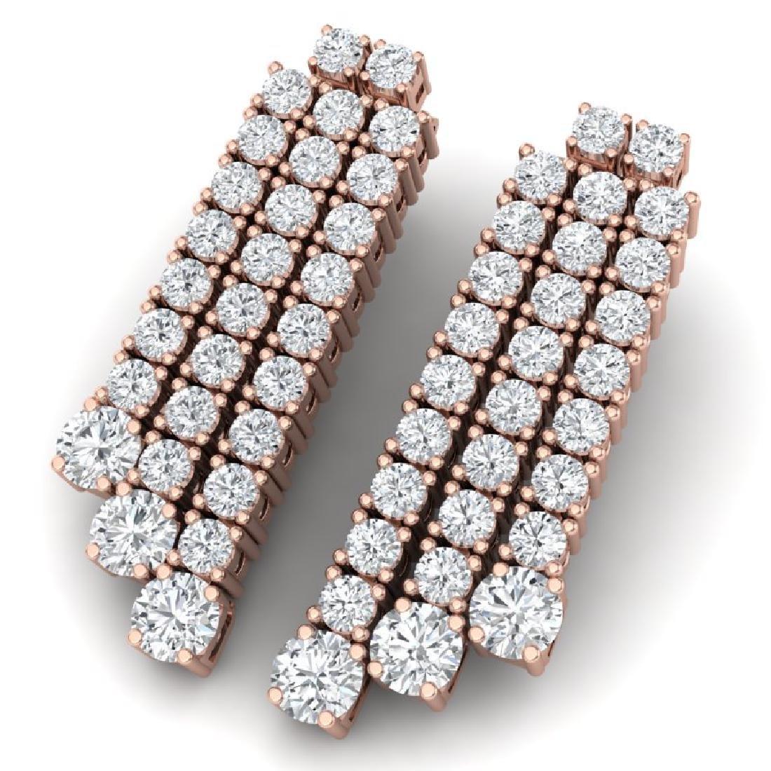 5 CTW Certified VS/SI Diamond Love Earrings 18K Rose