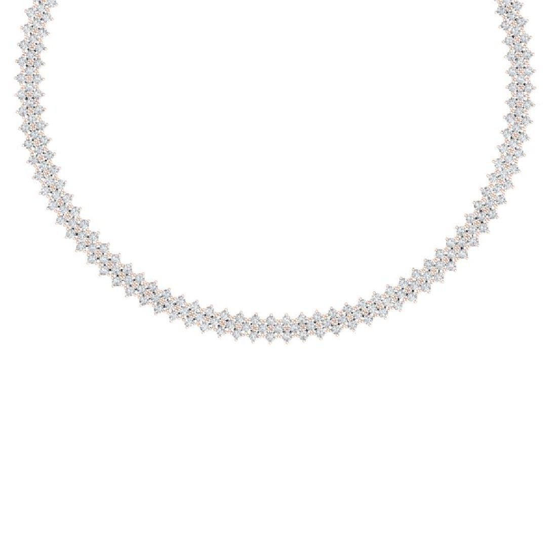 20 CTW Certified SI/I Diamond Necklace 18K Rose Gold
