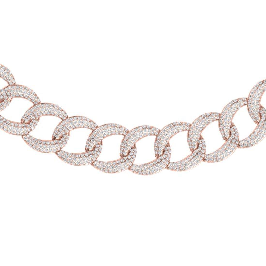 22 CTW Certified VS/SI Diamond Necklace 18K Rose Gold