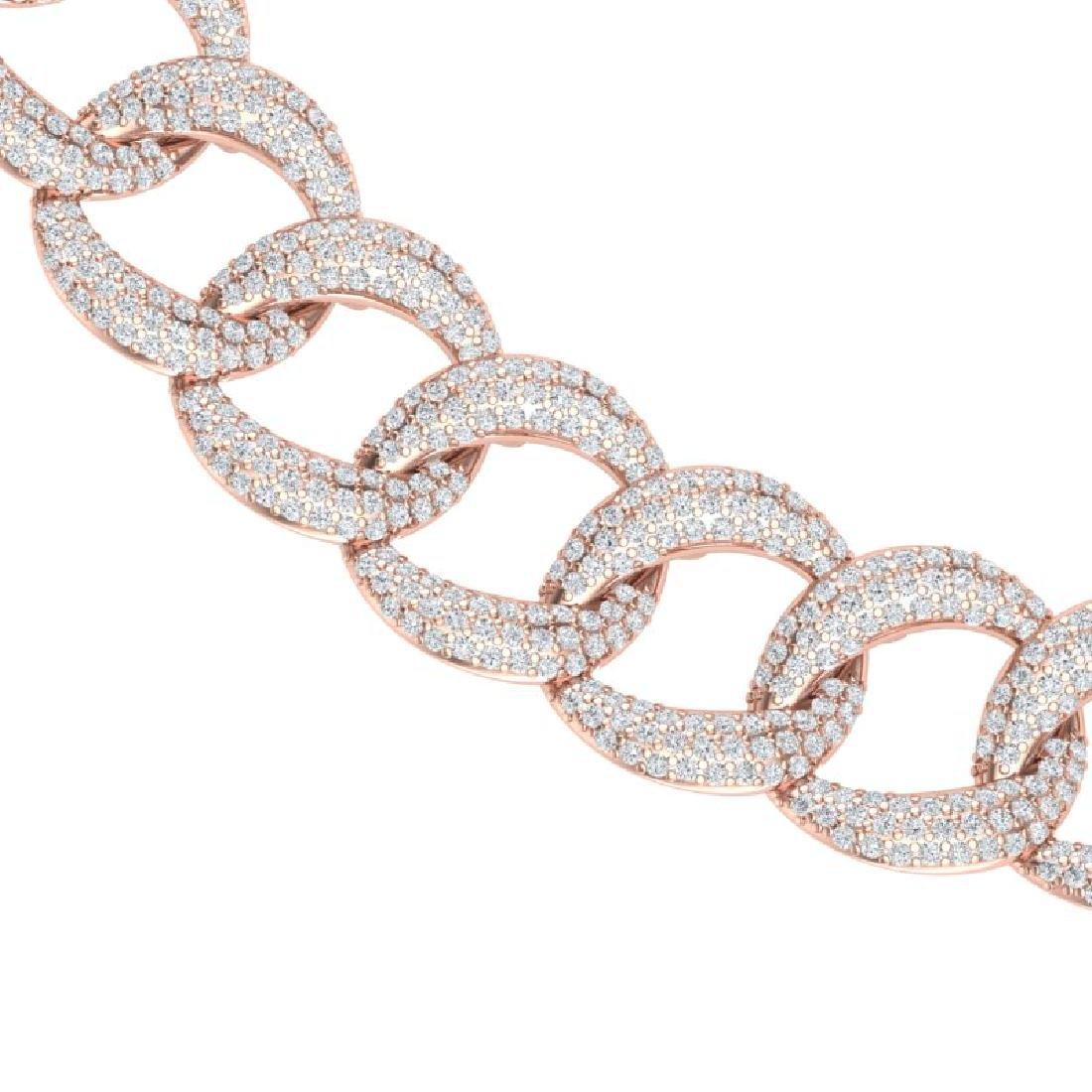22 CTW Certified VS/SI Diamond Necklace 18K Rose Gold - 2