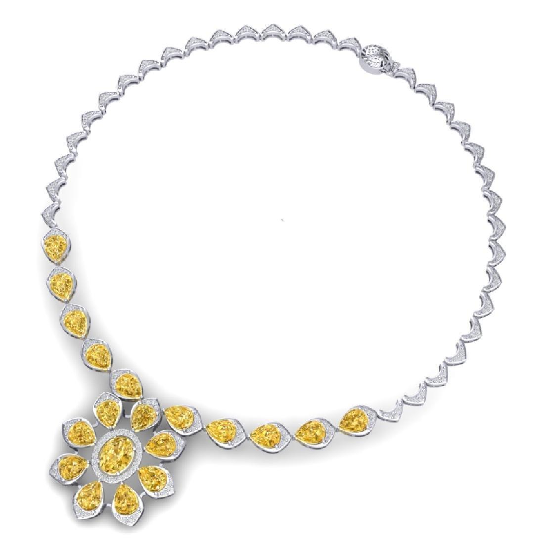 28.51 CTW Royalty Canary Citrine & VS Diamond Necklace - 3