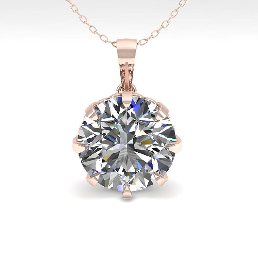 2 CTW VS/SI Diamond Solitaire Necklace 18K Rose Gold